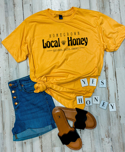 Local Honey Tee (Heather Mellow Yellow)