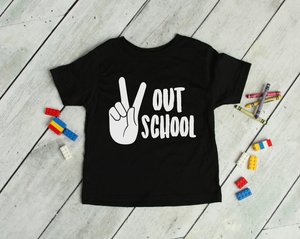 Peace Out School Kids Tee DROPSHIP