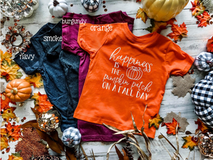 Happiness Is Pumpkin Patch Kids Tee DROPSHIP