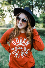Load image into Gallery viewer, Queen of the Pumpkins (Brick Triblend) Long Sleeve