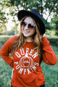 Queen of the Pumpkins (Brick Triblend) Long Sleeve