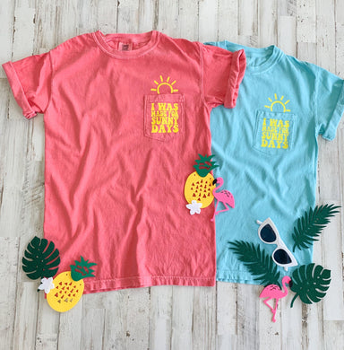 Sunny Days Comfort Colors Pocket Tee
