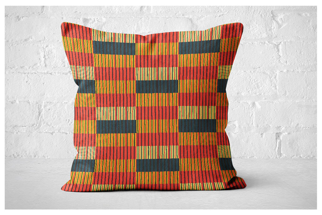 Square Pillowcase - Navajo Palm Stripe