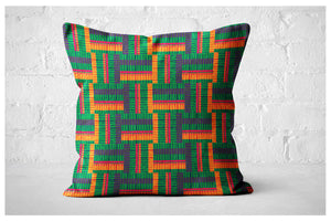 Square Pillowcase - Tropical Palms Stripe