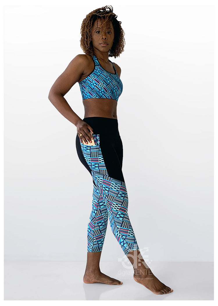 Ankle Crop High-Rise Legging Native Teal