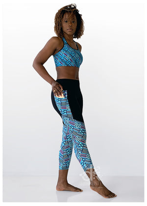 Ankle Crop High-Rise Leggings Native Teal