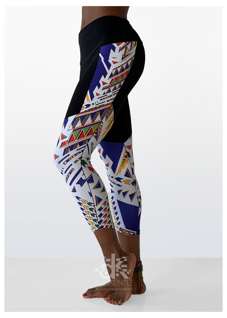 Ankle Crop High-Rise Legging Ndebele Navajo