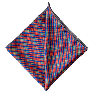 Blue/Red Kente Plaid