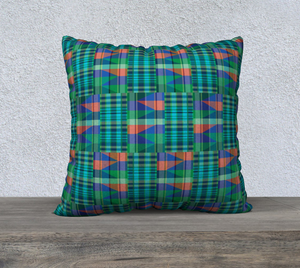 Square Pillowcase - Emerald Spring Kente