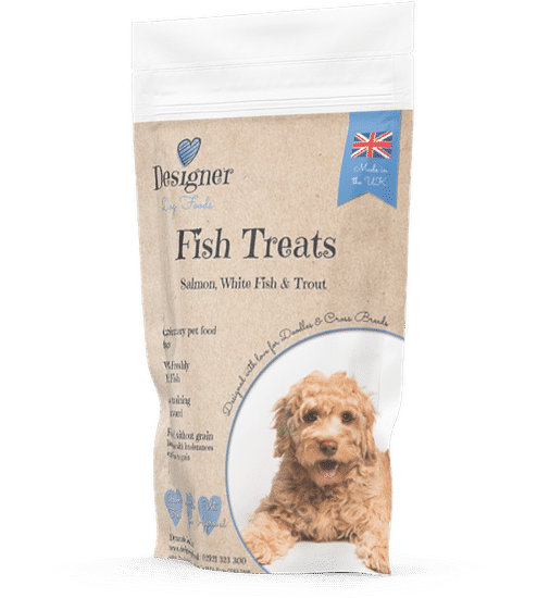 Labradoodle puppy training treats - fish  and potato, grain free and healthy snacks