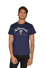 Mens Blue/White Killuminati T Shirt