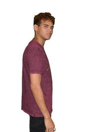 Mens Violet/Brown OG Paisley T Shirt