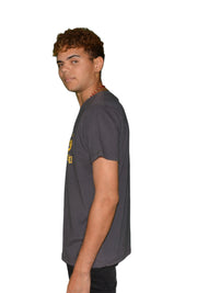 Mens Revolutionary Dark Grey / Yellow Print T Shirt