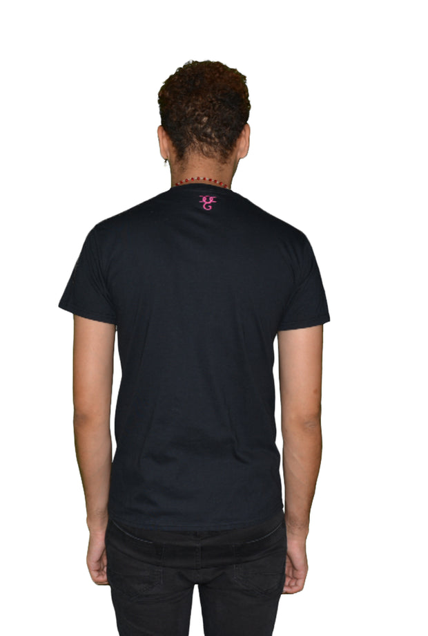 Mens Black/Pink Mark Of The Revolution T Shirt