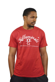 Mens Red / White Killuminati T Shirt