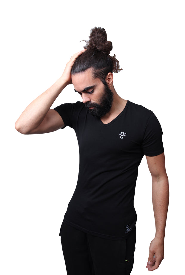 Mens O.G. V Neck Black T Shirt