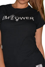 Womens Black/White Empower T Shirt