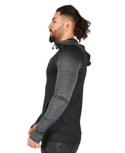 Mens Two tone OG1 sports lycra light Black hooded back