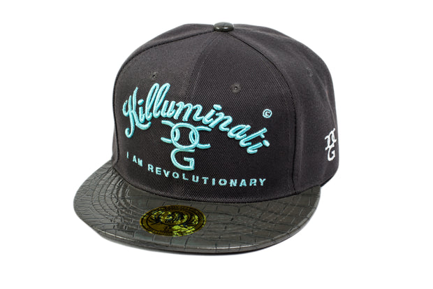 Killuminati I Am Revolutionary Blue With Grey Snakeskin Peak