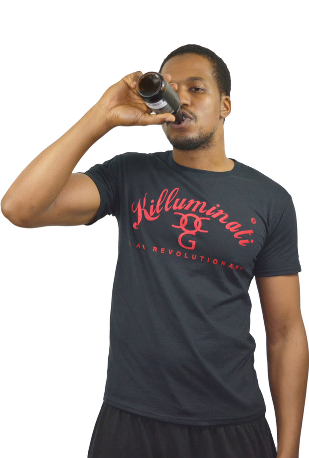 Mens Black / Red Killuminati T Shirt