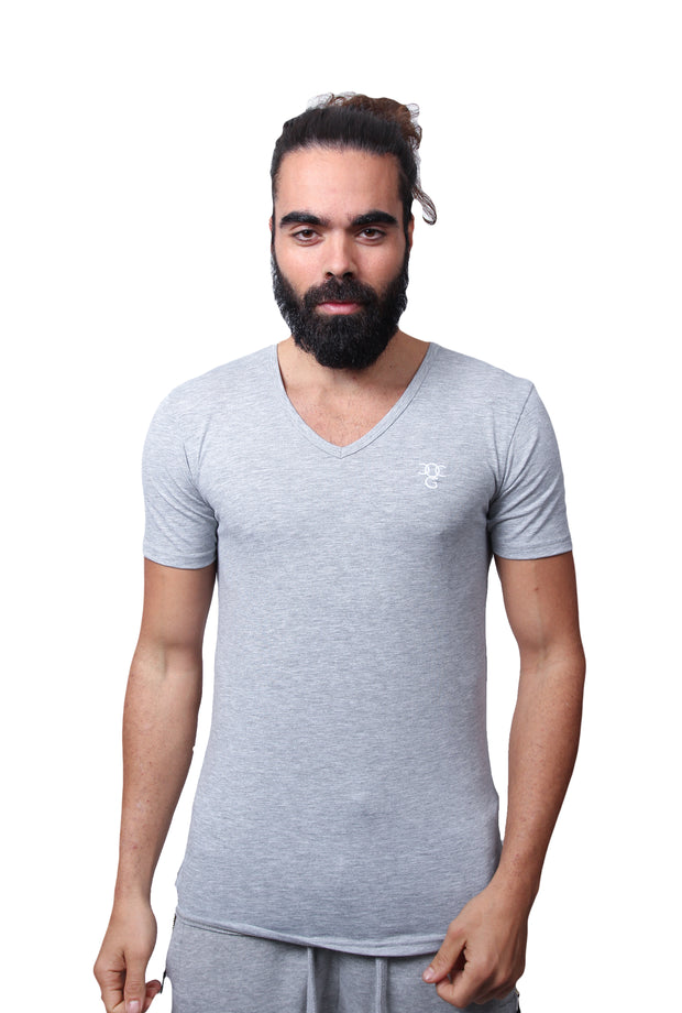 Mens O.G. V Neck Grey T Shirt