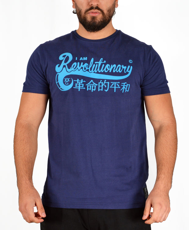 Mens Dark blue /Light blue Am Revolutionary T Shirt