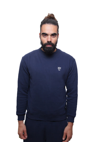 Mens O.G. Symbol Blue Sweat Jumper
