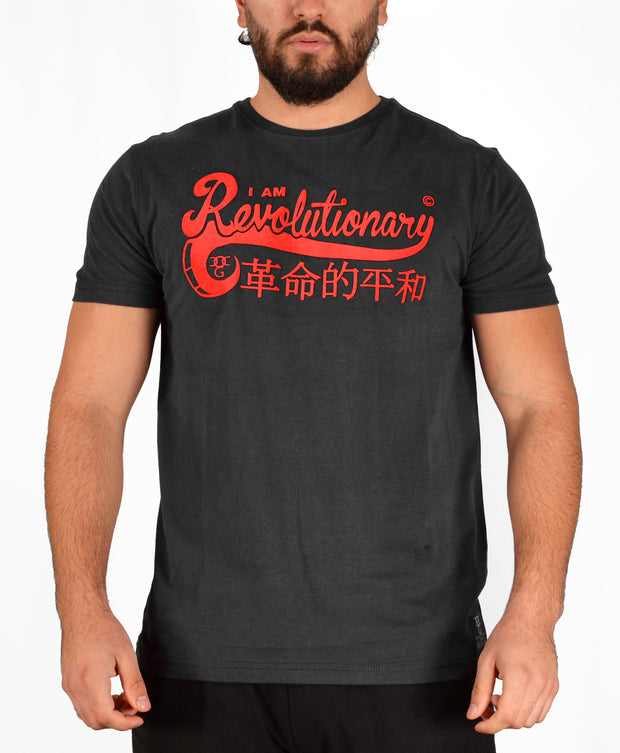Mens Black / Red I Am Revolutionary T Shirt