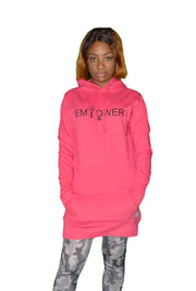 Womens Pink/Black Empower Hooded Top