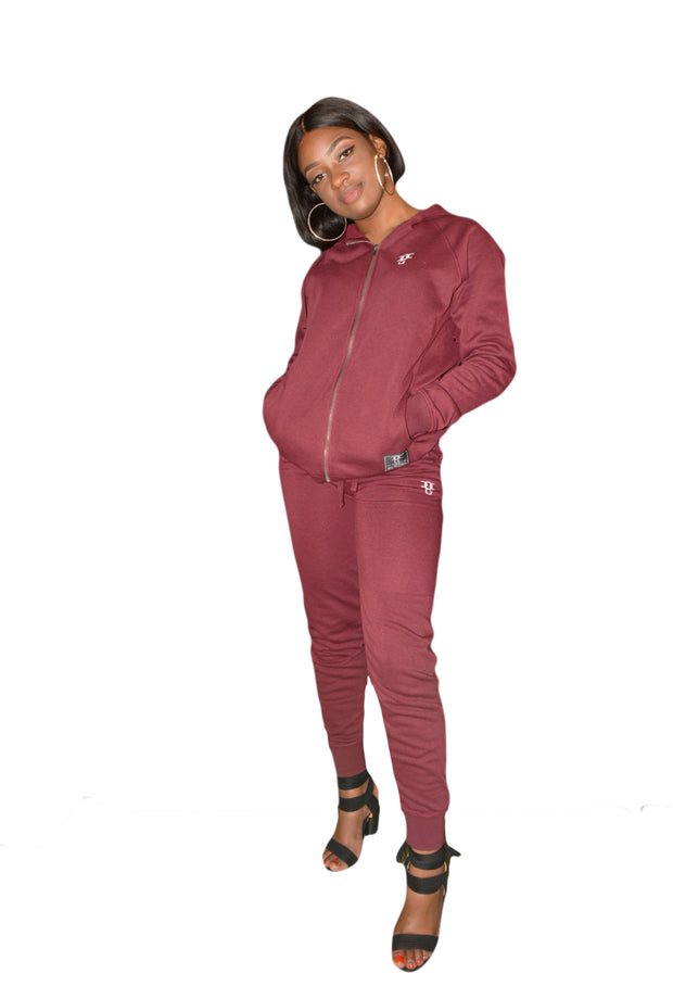 Womens Wine Red OG Tracksuit Bottoms