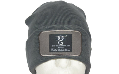 Dark Grey turn up beanie, with official patch