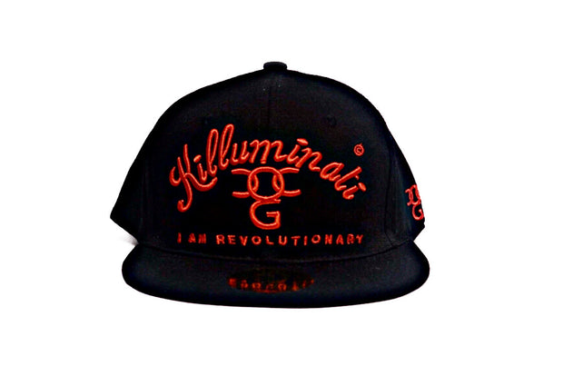 Killuminati – Man Made Virus Black/Red Flat Peak Snap Back