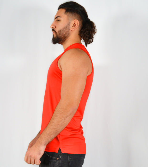 Mens O.G 1 Sports Red Fit Tank Vest Top