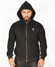 Mens O.G. Symbol Black Zipped Hooded Top