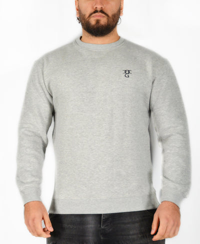 Mens O.G. Symbol Light Grey Sweat Jumper Top