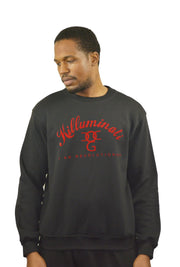 Mens Black / Red Killuminati Sweatshirt