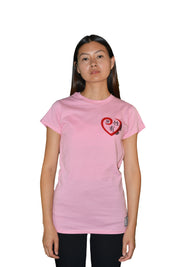 Womens Pink/Red/Black Heart T Shirt