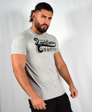 Mens Grey / Black Am Revolutionary T Shirt