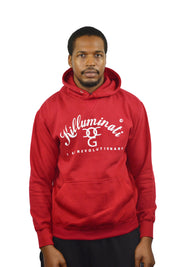 Men Red / White Killuminati Pullover Hooded Top