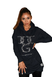 Womens Black/Silver OG Paisley Hooded Top