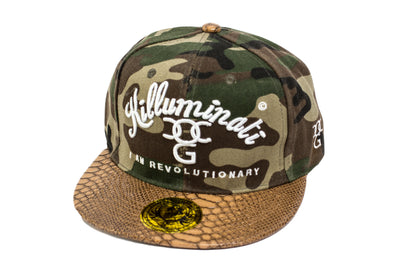 2pac Killuminati I Am Revolutionary Camo Snap Back With Snakeskin Peak