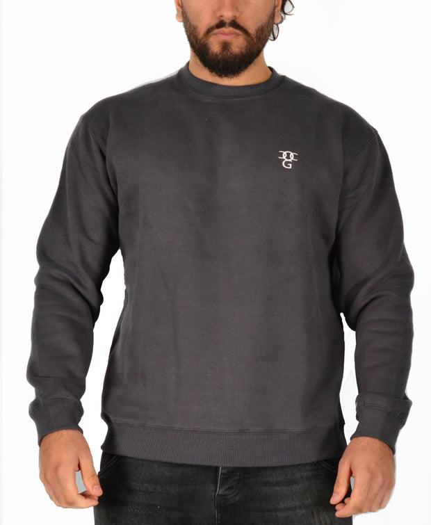Mens O.G. Symbol Dark Grey Sweat Jumper Top