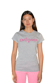 Womens Grey/Pink Empower T Shirt