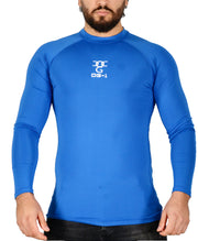 Mens O.G 1 Sports Base layer Blue Long Sleeve Compression Shirt