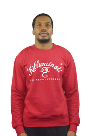 Mens Red / White Killuminati Sweatshirt