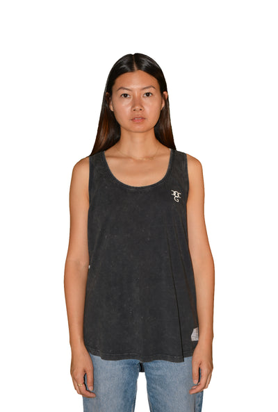 Womens Dark Grey/White OG Sleeveless T Shirt