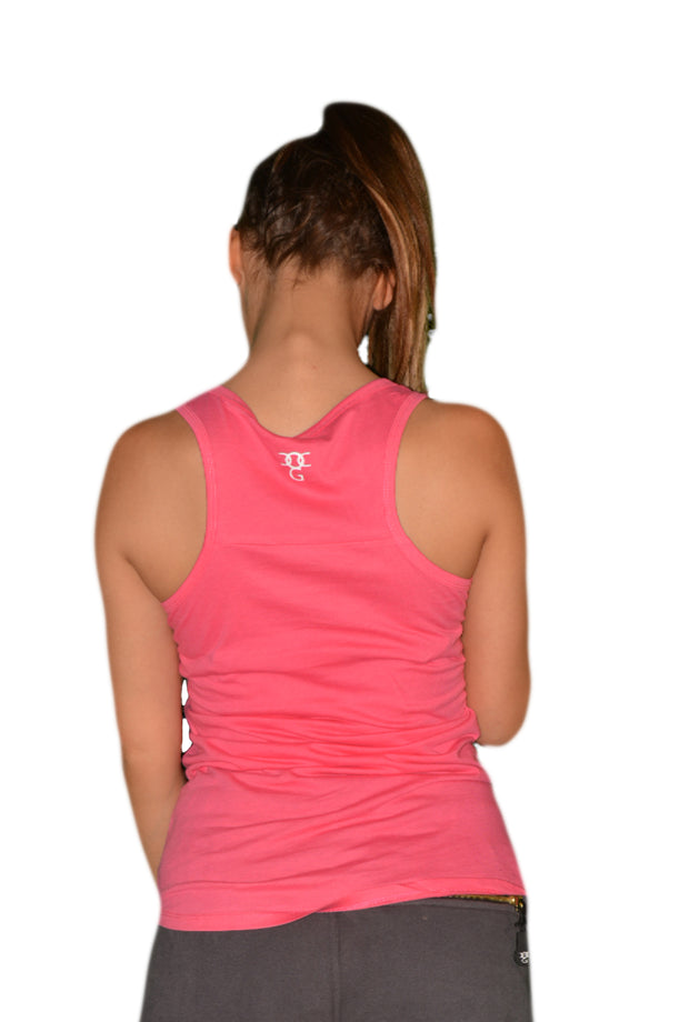 Womens Pink/White OG Sleeveless T Shirt