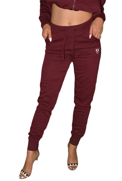 Womens Wine Red OG Tracksuit Bottom