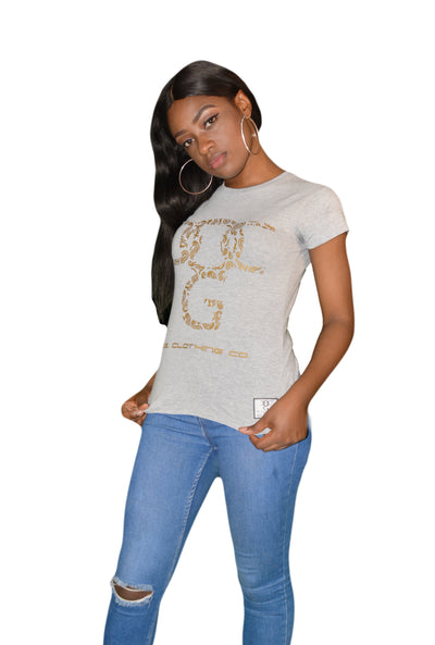 Womens Grey/Gold OG Paisley T Shirt