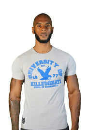 Mens Grey/Blue University Of Killuminati T Shirt